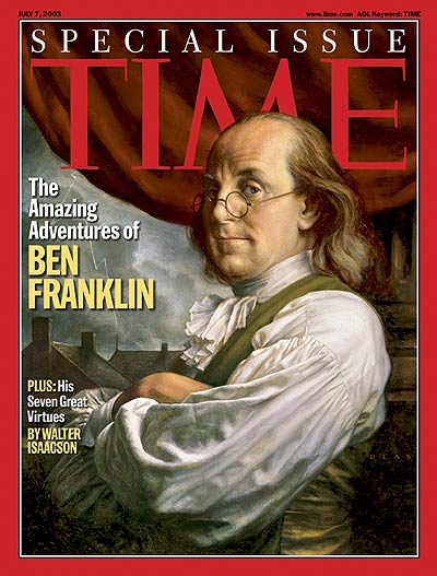 {Ben Franklin on the cover of Time magazine}